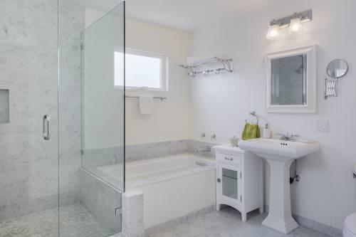 Interior of a fancy bathroom