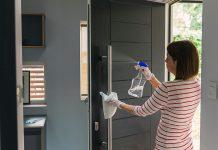 Disinfect your door